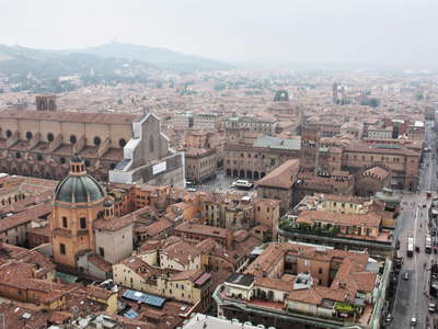 Bologna -  historical centre and Apennine