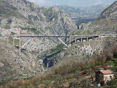 Platano Viaduct and Romagnano al Monte