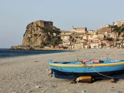 Scilla with fishing boat