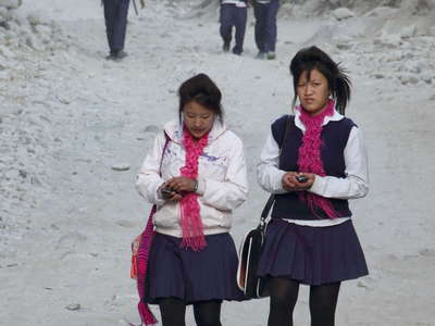 Kali Gandaki Valley  |  Way home from school