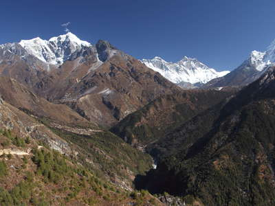 Khumbu Himal with Dudh Khosi Valley