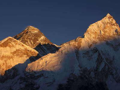 Mt. Everest and Nuptse west face