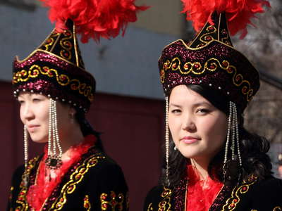 Bishkek  |  Traditional Kyrgyz costume