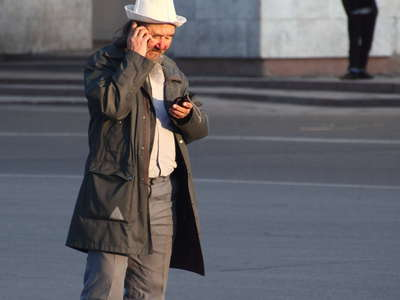 Bishkek  |  Chuy Avenue with Kyrgyz man