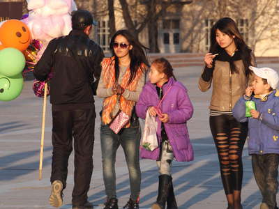 Bishkek  |  People in Chuy Avenue