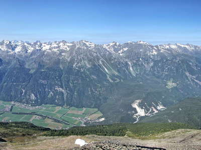 Oetztal panorama with Koefels Rock Slide