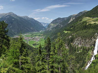 Oetztal with Umhausen and Stuibenfall