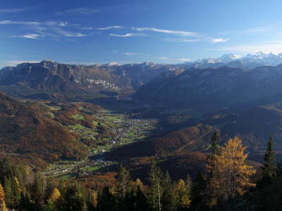 Bad Goisern panorama with Dachstein