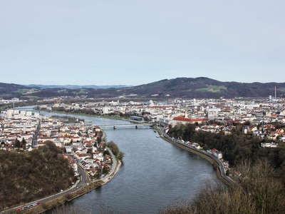 Linz panorama with Danube