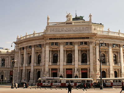 Wien  |  Ringstrasse with Burgtheater