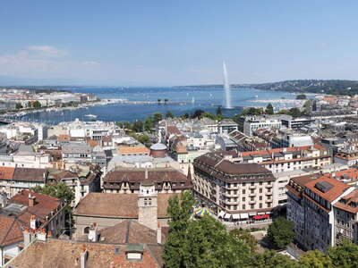 Geneva panorama with lake