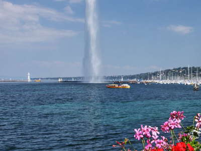Geneva  |  Lake with Jet d'Eau