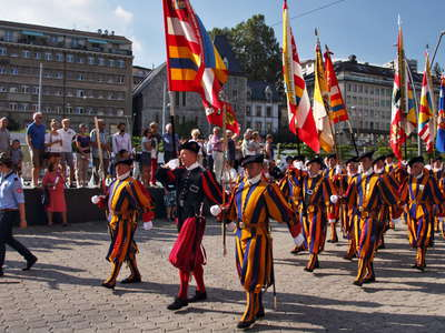 Lausanne  |  March in traditional costumes