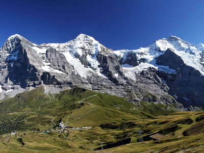 Eiger, Moench and Jungfrau panorama