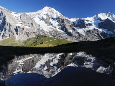 Eiger, Moench and Jungfrau  |  Reflection