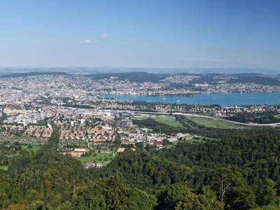 Zuerich and Zuerichsee panorama