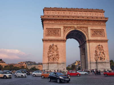 Paris  |  Place Charles de Gaulle with Arc de Triomphe