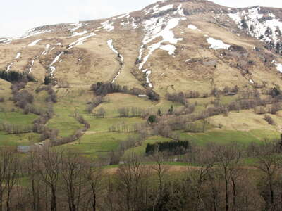 Monts du Cantal with Puy de Seycheuse