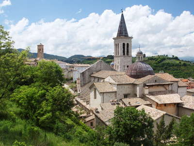 Spoleto - historic centre with cathedral