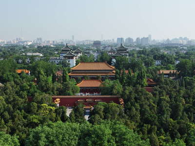 Beijing  |  City panorama with Jingshan Park
