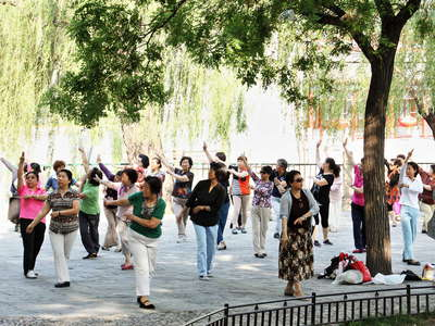 Beijing  |  Morning sports at Beihai Park