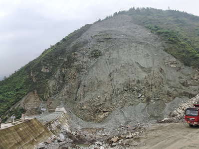 Yingxiu  |  Hongchun Gully with landslide