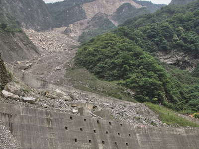 Mianyuan River Valley  |  Debris flow