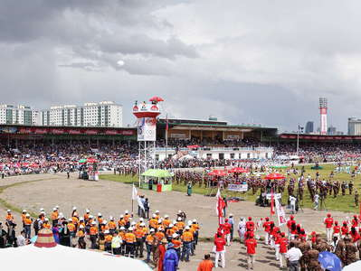 Ulaan Baatar  |  National Stadium during Naadam Festival