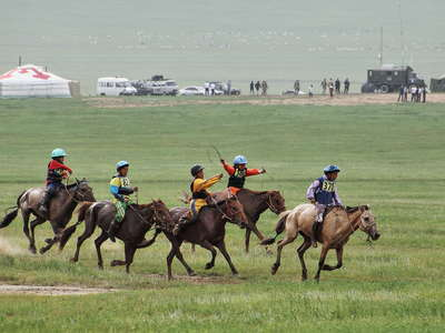 Songino Khairkhan  |  Horse race at Naadam Festival