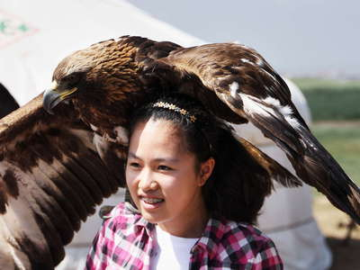 Nalaikh  |  Girl with eagle