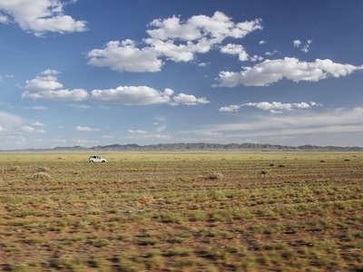 Gobi  |  Steppe with rural traffic