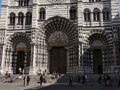 Genova - front of San Lorenzo Cathedral