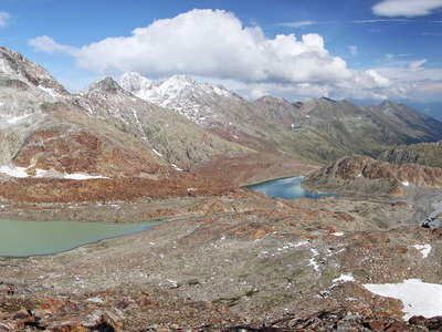 Ridnaun Valley | Glacial lakes and Übeltalferner panorama