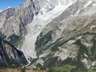 Mont de la Saxe deformation and Monte Bianco