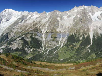 Mont de la Saxe deformation and Monte Bianco panorama