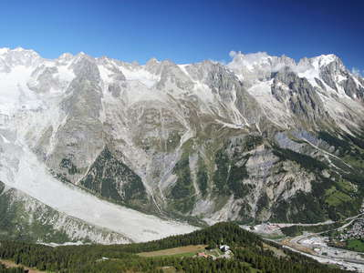 Monte Bianco panorama and Mont de la Saxe