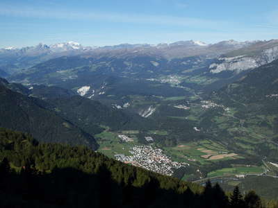 Flims Rock Slide panorama