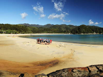 Abel Tasman NP  |  Panorama of Anchorage Bay
