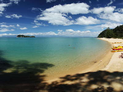 Abel Tasman NP  |  Panorama of Apple Tree Bay