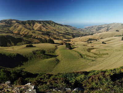 Banks Peninsula  |  Panorama of Okains Bay