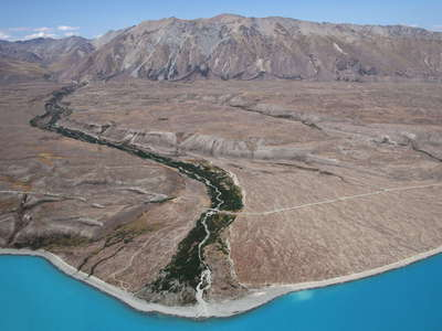 Lake Tekapo with Boundary Stream