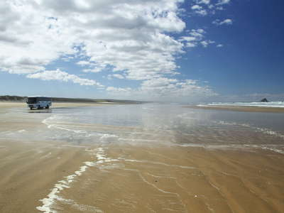 Ninety Mile Beach  and  Matapia Island