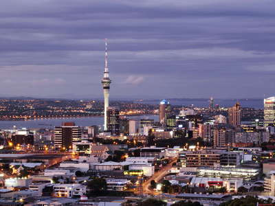 Auckland CBD with Sky Tower