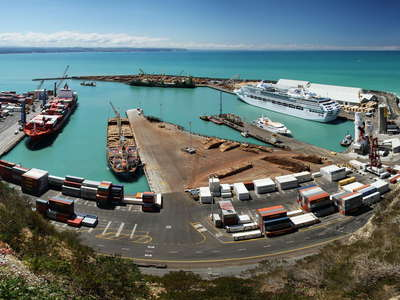 Napier Port and Hawke Bay  |  Panorama