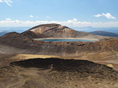 Tongariro NP  |  Central Crater and Blue Lake