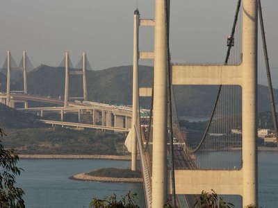 Hong Kong  |  Tsing Ma Bridge and Kap Shui Mun Bridge