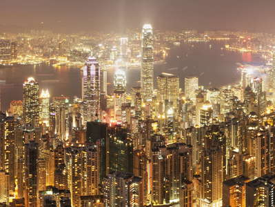 Hong Kong  |  Night panorama