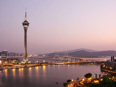 Macau  |  Macau Tower and Sai Van Bridge