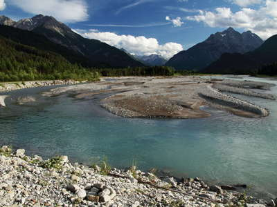 Lechtal Valley | Braided river system