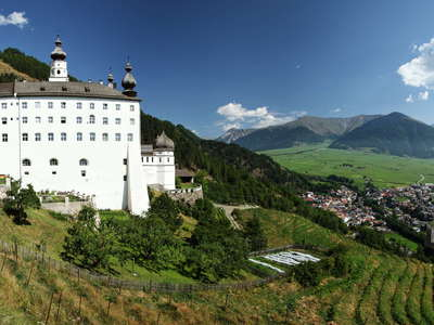 Marienberg Abbey and Malser Haide | Panorama